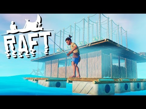 Building a RAFT House and Amazing Tree Farm! - Raft Gameplay