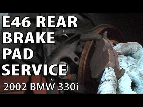 BMW 330i 325i E46 Rear Brake Job Changing Pads