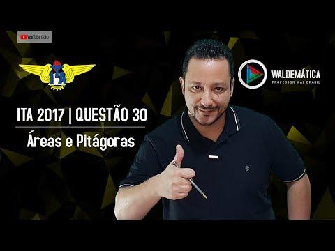 ITA 2017 (Q.30) | Desenho - CUBO - ÁREAS e PITÁGORAS | Waldemática