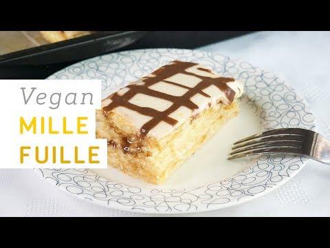 Vegan mille feuille recipe - super easy with home-made vegan custard