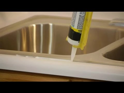 How to Caulk & Seal a Kitchen Sink on a Laminate Countertop : Caulking Tips