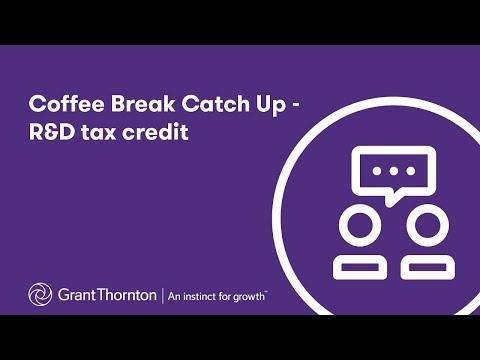 Coffee break catch-up - R&D tax credit