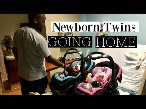 Newborn Twins Coming Home from The Hospital | Vlog |