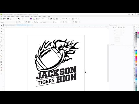 How to Create Artwork for Vinyl Cutting -  CorelDraw Edition