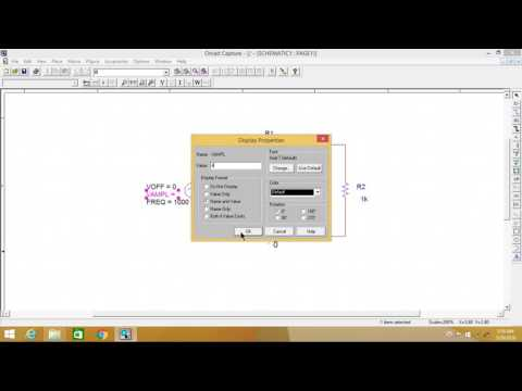 Tutorial 1: How to build and simulate circuit in pspice