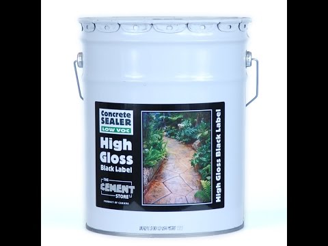 The Cement Store - Black Label High Gloss Concrete Sealer