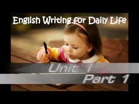 การเขียนภาษาอังกฤษในชีวิตประจำวัน ทบทวนไวยากรณ์ก่อนเริ่มเขียน 1