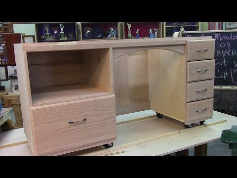 108 Sewing Cabinet with Machine-Lift Part 1 of 2