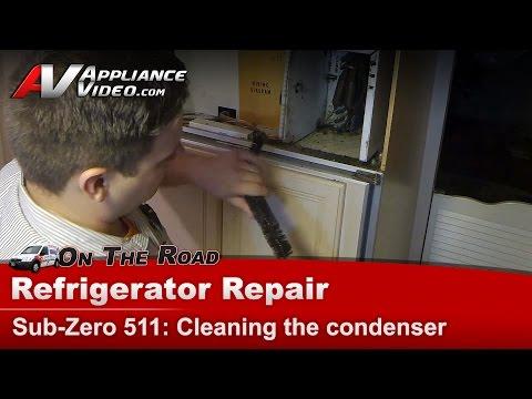 Sub-Zero Refrigerator not cooling - dirty condenser - compressor overheating