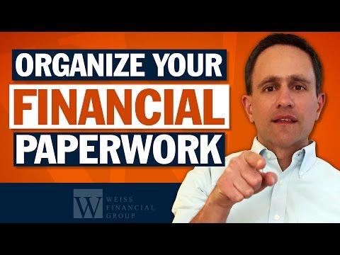 How to Organize Financial Paperwork - Estate Planning Basics
