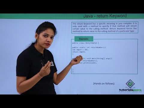 Java - Return Keyword