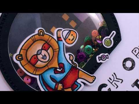 Heffy Halloween - Day 3 - Super Hero Halloween Card