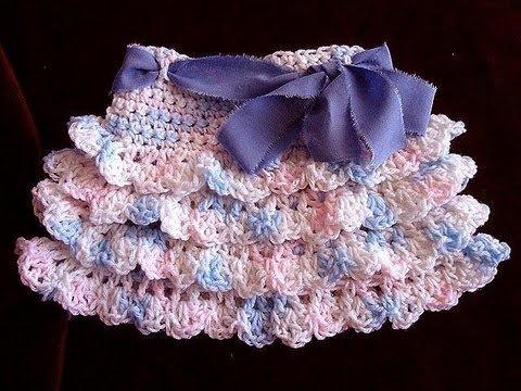 242a95672b crochet RUFFLED SKIRT