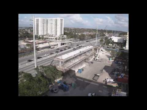 FIU Florida International University TIME LAPSE photography showing COLD JOINTS being installed