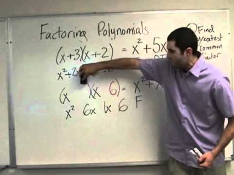 Algebra - Introduction to Factoring Trinomials