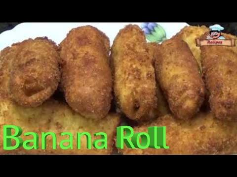 Banana Roll Recipe / केले का रोल बनाने की आसान विधि