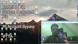 Mi Redmi 6 and Redmi 6A Mtk Mi account Remove Frp unlock one