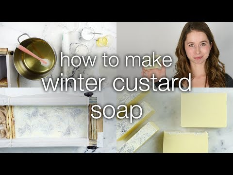 How to Make Winter Custard Soap