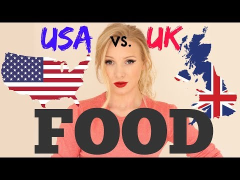 TOP 10 AMERICAN vs BRITISH FOOD DIFFERENCES | English Vocabulary Lesson