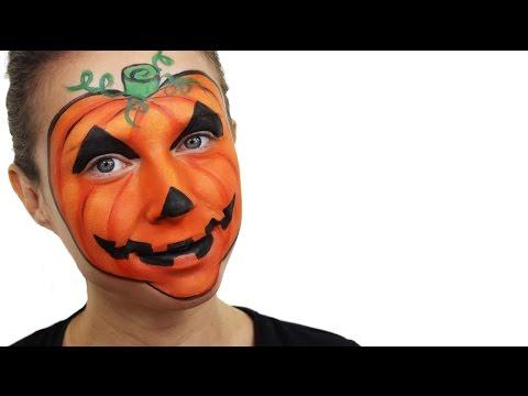 Halloween Pumpkin Face Paint Tutorial | Snazaroo