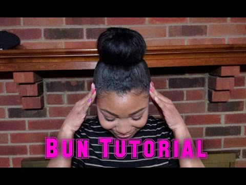 How To: Big Bun HAIR TUTORIAL | Relaxed Hair | NO Weave Required!