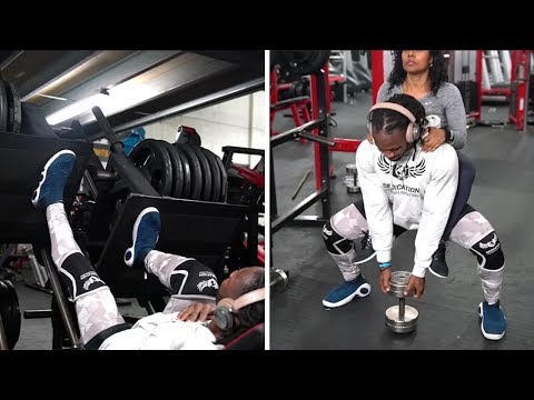 ULISSES JR Training Legs with Sarah Ulisses - Leg Day Motivation [thediacl]