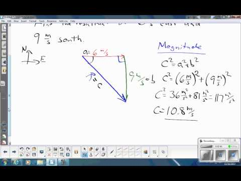 Vector Addition at Right Angle