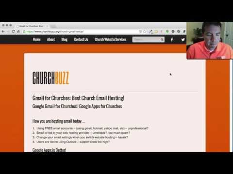 Gmail for Churches and Google Apps for Churches