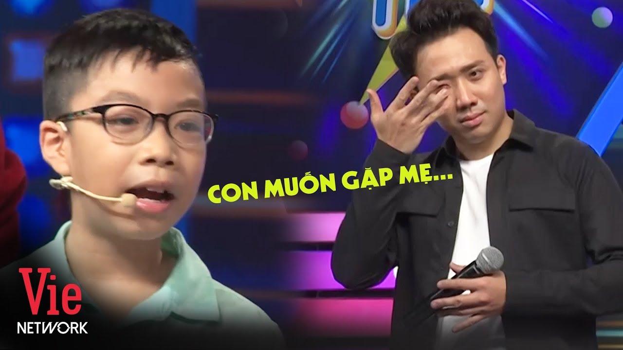 Trả lời 10 câu cực nhanh, bé trai khiến Trấn Thành xúc động khi muốn gặp mẹ đầu tiên   NNCN Mùa 2
