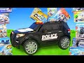 Police Cars Ride On Toy Vehicles W Lego Construction Toys Trucks Car Surprise For Kids