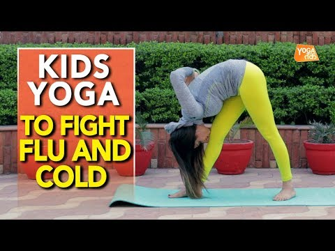 Kids Yoga | Yoga To Prevent Flu And Cold | Intense Side Stretch Pose | Yoga Tak