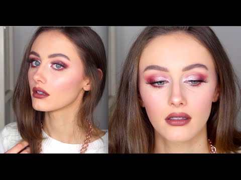 Pink & Burgundy Makeup Look  | MAC Whirl Lipstick | NYX Strawberry Milkshake