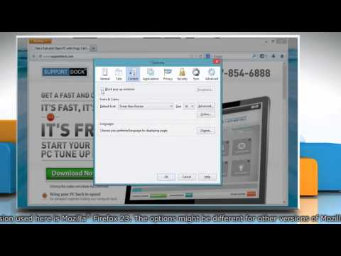How to manage Mozilla® Firefox pop up blocker settings in Windows® 8.1