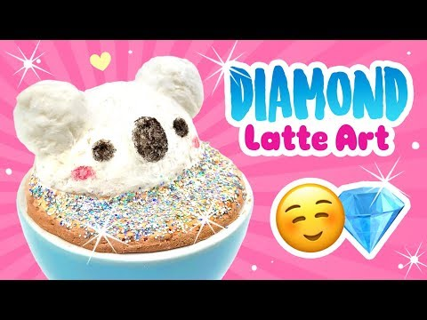 DIY Diamond Cappuccino 3D Latte Art!!! Inspired by Viral HOLO Cappuccino on Instagram!!