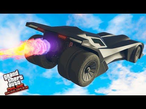 GTA 5 BATMAN'S BATMOBILE UNRELEASED ONLINE - GTA 5 UNRELEASED VEHICLES - SMUGGLER'S RUN DLC UPDATE