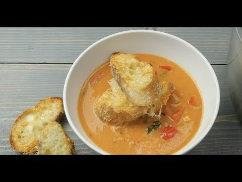 Rustic Red Pepper and Tomato Soup