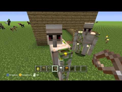 Minecraft Tutorial - How to create Horse Guardians - Saddle up! - Xbox 360