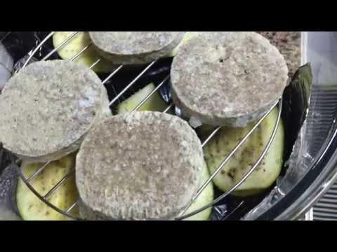 Aubergine and burgers patties - Halogen Oven