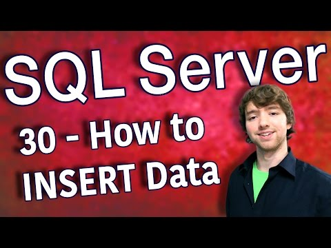 SQL Server 30 - How to INSERT Data