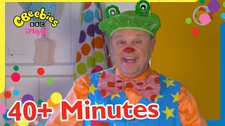 Mr Tumble's Five Little Speckled Frogs Song and more! 🐸   CBeebies 40+ Minutes Compilation