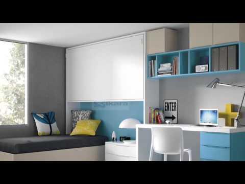 Dormitorios juveniles para dos hermanos for Camas triples juveniles