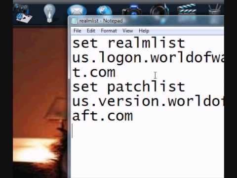 How to change your realmlist in WoW