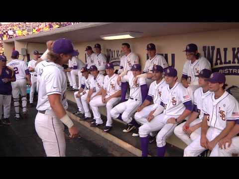 LSU Baseball pre-game dugout chant