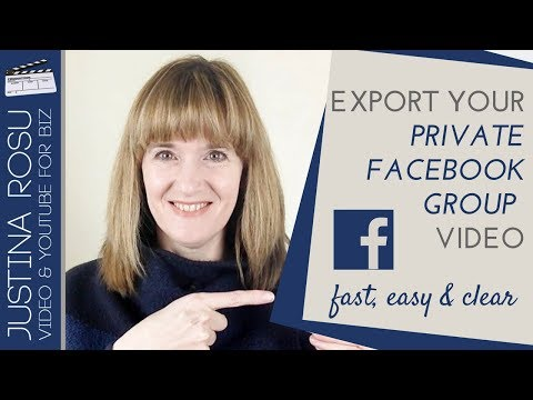 How to download your video from a PRIVATE FACEBOOK GROUP
