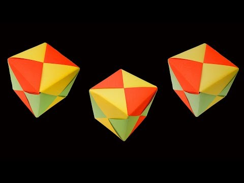 How to Make a Paper Square Ball (very easy) : DIY Crafts
