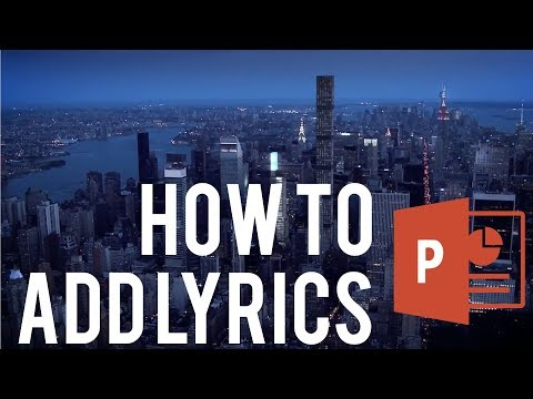 How To Make a Lyric Music Video With PowerPoint Part 1