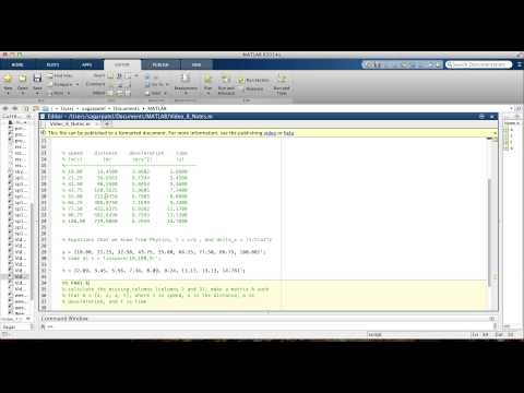 MATLAB Video 8: Example 2 using char and num2str functions
