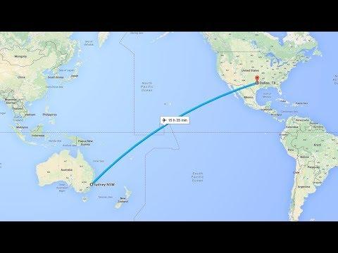 Google Earth - Flight Simulator: Sydney To Dallas / Fort Worth!