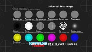 TobyFree.com - 8K UHD Test Pattern H.264 MP4
