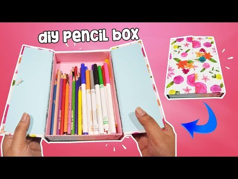 How To Make Pencil Box Case For Back To School DIY Pencil Case